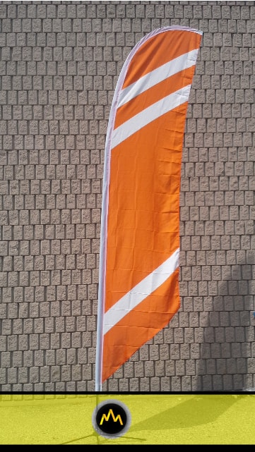 Orange Feather Flag