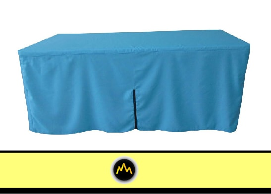 Blue Zipper Table Cover